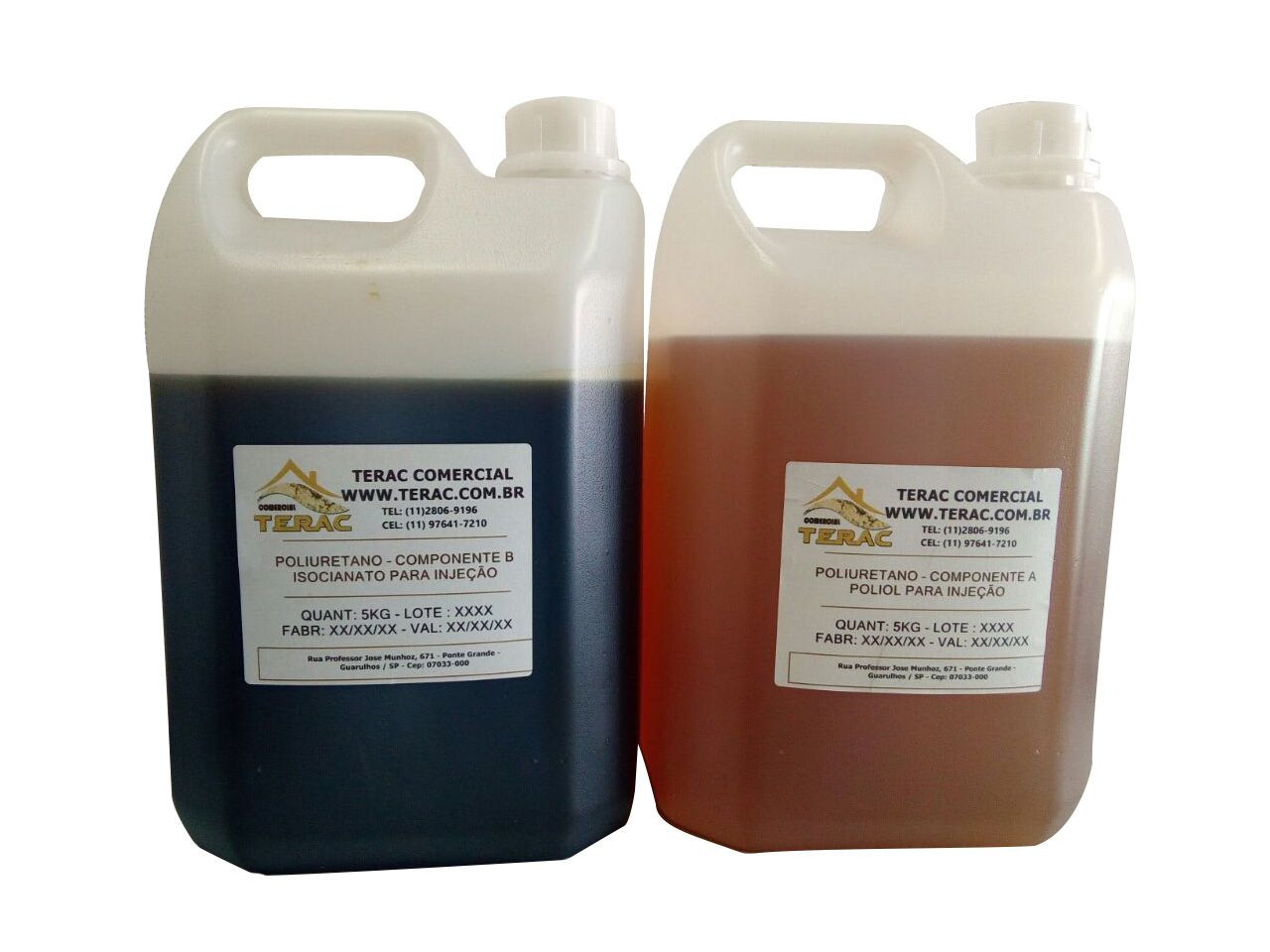 Poliuretano liquido bi-componente A+ B 100kgs