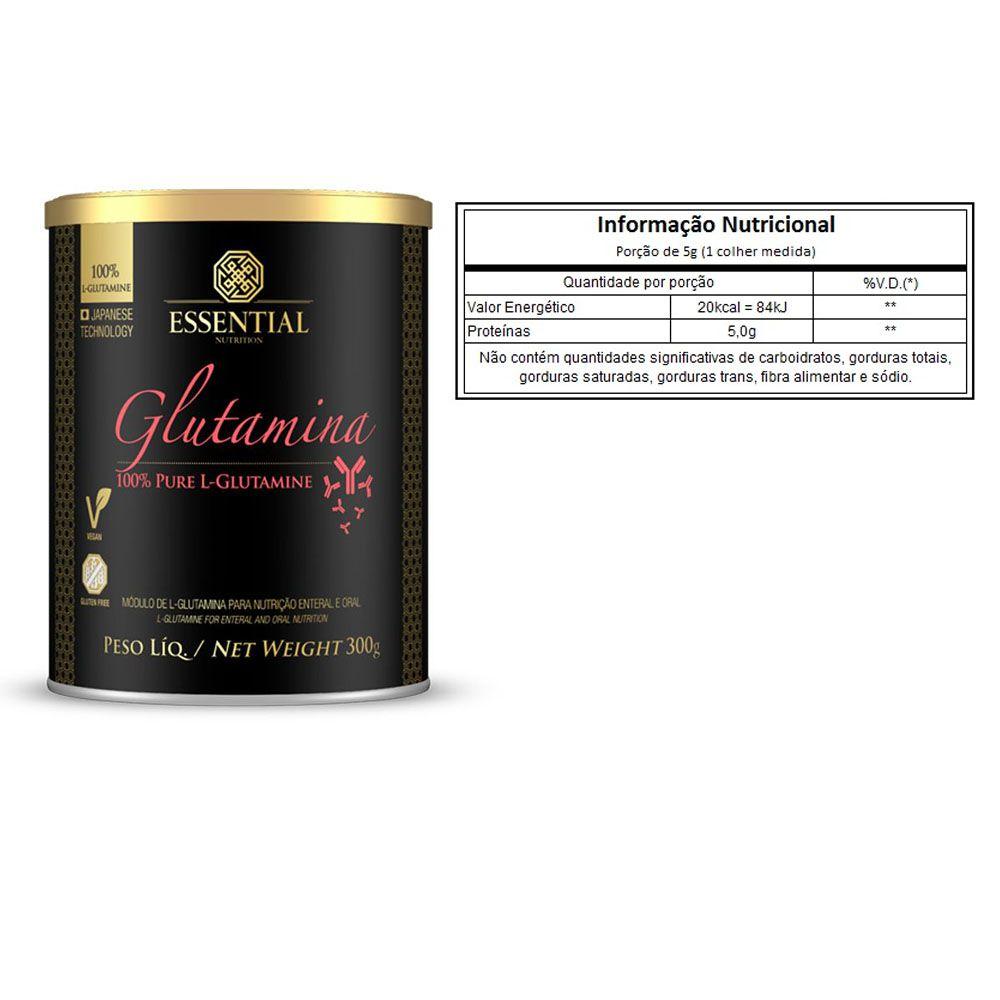 100% Glutamina 300G - Essential + Própolis 60 Caps  - KFit Nutrition