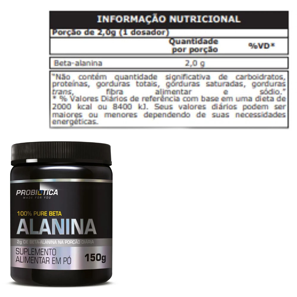 100% Pure Beta Alanina 150g - Probiótica  - KFit Nutrition