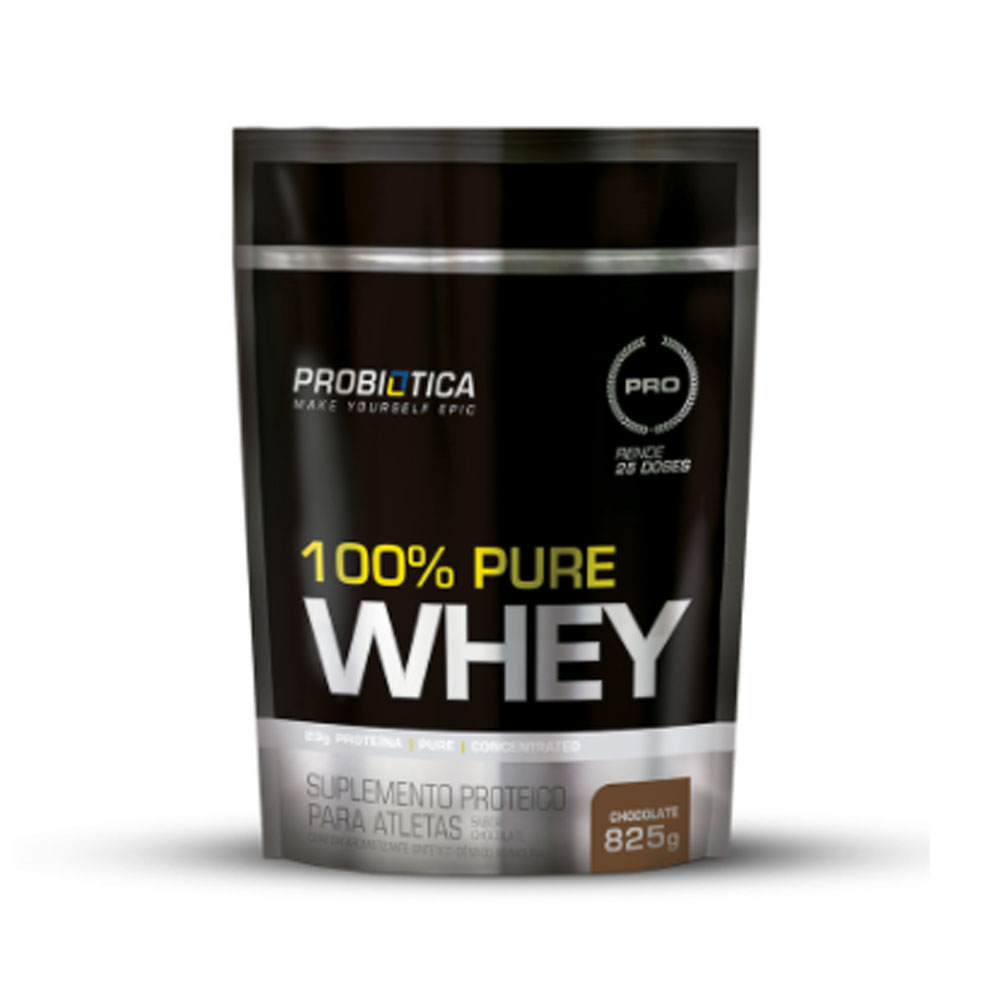 100% Pure Whey Refil 825g Chocolate - Probiótica  - KFit Nutrition