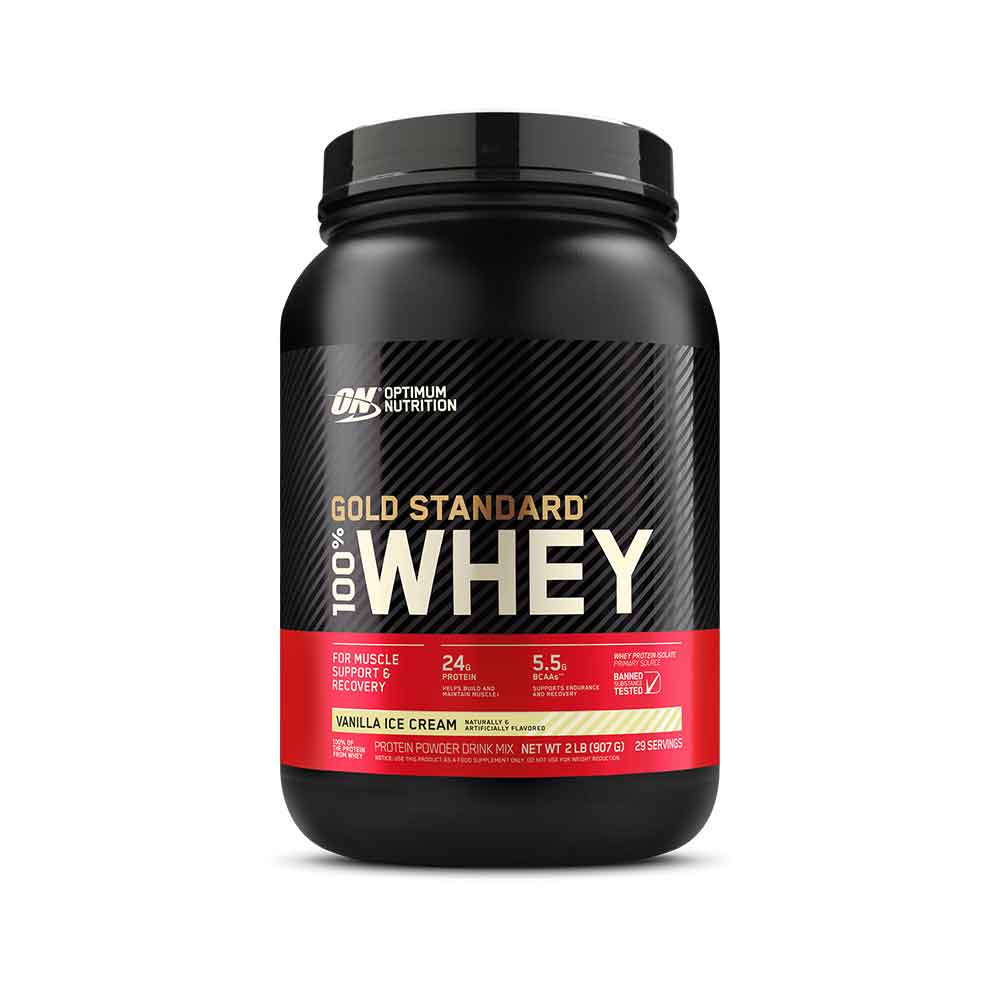 100% Whey Gold Standard 900g- Optimum Nutrition Baunilha  - KFit Nutrition