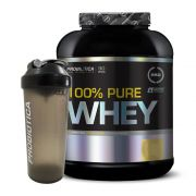 100% Pure Whey 2kg Baunilha + Bottle + Camiseta Probiótica