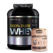 100% Pure Whey 2kg Morango + Supercoffee