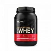 100% Whey Gold Standard 900g- Optimum Nutrition Morango
