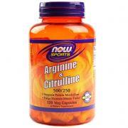 Arginina + Citrulina Now Sports