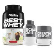 Best Whey Abacaxi 900g + Bcaa 60 Caps + Creatina 100g