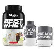 Best Whey Choc Brownie 900g +Bcaa 60 Caps +Creatina 100g