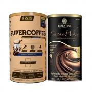 Cacao Whey 450G e Supercoffee 2.0 Economic Size 380g