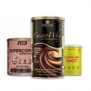 Cacao Whey 900g + Supercoffee 2.0  + Morning Shot Lata