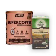 Chá Tulsi Camomila e Mel 25 Sachês + Supercoffee 220g