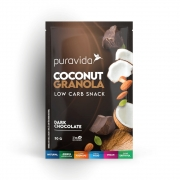 Coconut Granola Dark Chocolate 30g - Puravida