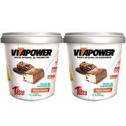 Pasta de Amendoim 1Kg 2 Un Press Cream Vitapower