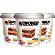 Pasta de Amendoim 1Kg 3 Un Brownie Cream Vitapower