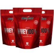Combo 3 Un Super Whey 100% 900g Cappuccino Integral Medica