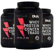 Whey Concentrado 900g Chocolate 3 Un  - Dux Nutrition