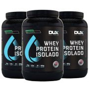 Whey All Natural 900g Chocolate 3Un  - Dux Nutrition