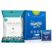Combo Desinchá Noite 60 Sachês + Pipoca 150g Caramelo e Coco