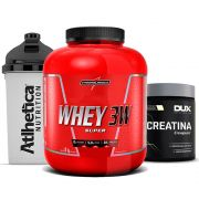 Super Whey 3w 1.8Kg Baunilha + Creatina Dux + Bottle
