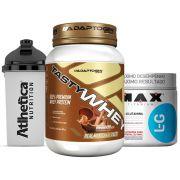 Tasty Whey 2 LB C/ Peanut  +Glutamina 300g Max +Bottle