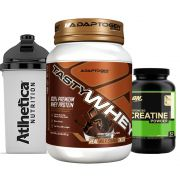 Combo Tasty Whey 2 LB Chocolate +  Creatina 300g Op + Bottle