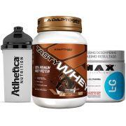 Tasty Whey 2 LB Chocolate + Glutamina 300g Max +Bottle