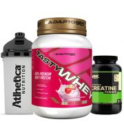 Combo Tasty Whey 2 LB Strawberry +  Creatina 300g Op +Bottle
