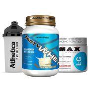 Tasty Whey 2 LB Vanilla+ Glutamina 300g + Bottle 500ml