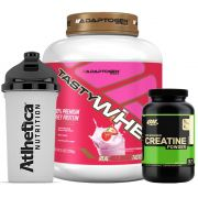 Combo Tasty Whey 5 LB Strawberry +  Creatina 300g Op +Bottle