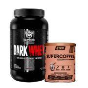 Dark Whey 1,20kg Chocolate C Amendoim + Supercoffee 2.0 220g