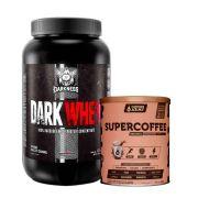 Dark Whey 1,20kg Salted Caramel  + Supercoffee 2.0 220g