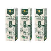 Extrato de Própolis Verde Orgânico 30 mL - BR 3 Un