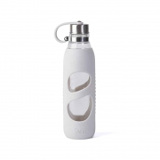 Garrafa Pureglass C/ Silicone Branco 600 Ml - Pacco