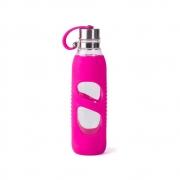 Garrafa Pureglass C/ Silicone Pink 600 Ml - Pacco