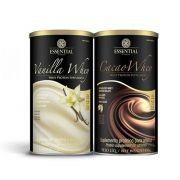 Cacao Whey 450g 1 Un  + 1 Un Vanilla whey 450g Essential