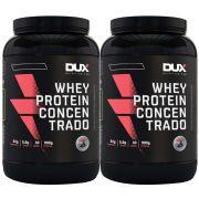 Whey Protein Concentrado 900g Baunilha 2 Un - Dux