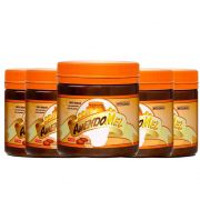 Pasta de Amendoim Amendomel 1KG Crocante e Cacau Thiani 5 Un