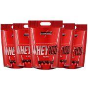 Super Whey 100% Morango 5 un 900g Integral Medica