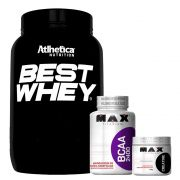 Best Whey Baunilha + Bcaa 2400 + Creatina 300g