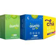 Desinchá 60 Sachês + Desinchá Noite + Teafina Chá Lovers