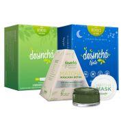 Desinchá + Desinchá Noite + Matchá Máscara Detox 60g