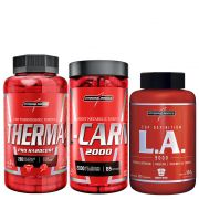 Kit Emagrecimento Therma Pro 60CAPS + L-Carn 120CAPS + LA TOP Definition 120CAPS