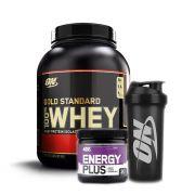 Energy Plus + Gold Standard 2.270g Baunilha + Bottle