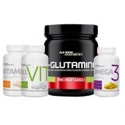 Kit Glutamina +  All Vit + Vit D + Ômega 3 - Nutri American