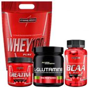Whey Chocolate + BCAA + Glutamina + Creatina