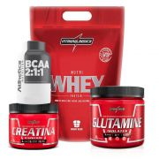 Kit Nutri Whey Chocolate 900G + Bcaa + Creatina + Glutamina