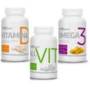 Kit Ômega 3 + Vitamina D + All Vit Nutri American