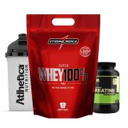 Super Whey 100% Chocolate + Creatina Optimun + Bottle