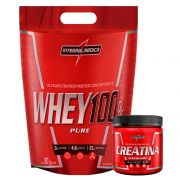 Super Whey Morango 100% 900G + Creatina 150G
