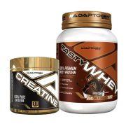 Tasty Whey 2 LBS Chocolate + Creatine 300g - Adaptogen