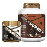 Kit Tasty Whey 5 Lbs Chocolate + Creatine 300g - Adaptogen